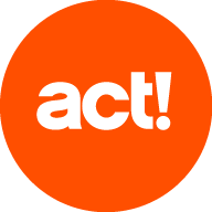 act! Logo orange weiß